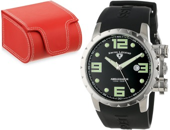 96% off Swiss Legend Men's Ambassador Black Watch