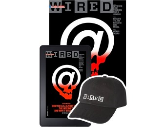 92% off Wired Magazine All Access (Print + Digital) + Free Hat