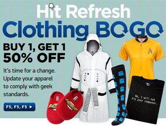 Deal: Buy One Get 50% off One at ThinkGeek BOGO Sale
