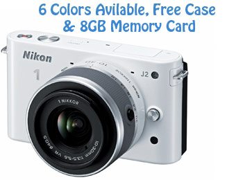 Up to 40% off Nikon 1 J2 Camera w/ Free Case & 8GB Memory Card
