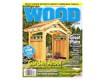 $49 off Wood Magazine Subscription, 7 Issues / $4.99
