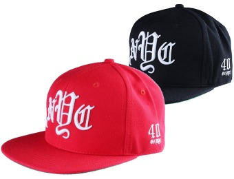 75% off 40 OZ NYC Men's Snapback Hat, Red or Black