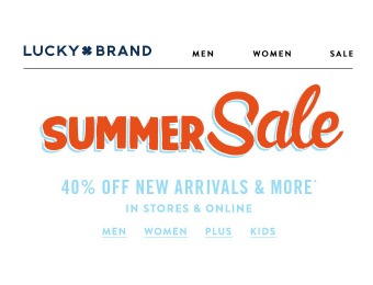 Lucky Brand Sale - Save 40% off New Arrivals & More