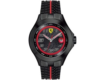 $118 off Scuderia Ferrari Watch, Men's Race Day Black Tire Tread