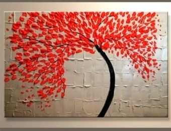 81% off Yihui Arts Modern Abstract Stretched Canvas Oil Painting