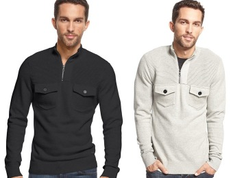 91% off INC International Ottoman Quarter-Zip Mock-Neck Sweater