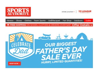 Sports Authority Father's Day Sale Event