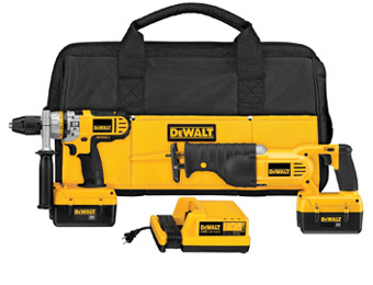 37% off Dewalt DCX6210 Cordless Drill/Reciprocating Saw Kit