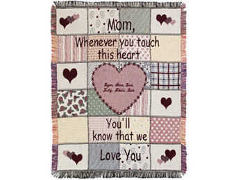 22% off Personalized Mother's Touch Throw