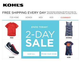 Kohl's 2-Day Sale - Tons of Great Deals