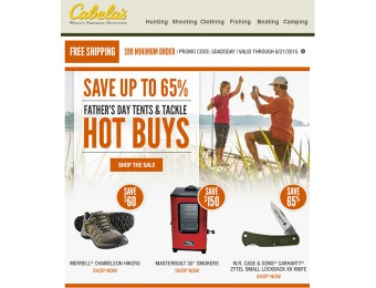 Cabela's Father's Day Sale - Up to 65% Off Sporting Goods & More