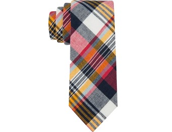 83% off Tommy Hilfiger Madras Slim Tie