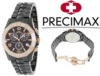 92% off Swiss Precimax Luxe Elite SP12200 Ceramic Swiss Watch