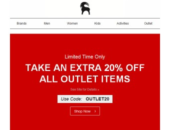 Save an Extra 20% off Any Outlet Item at Backcountry.com