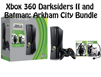 $50 off Xbox 360 250GB Darksiders II & Batman Arkham City Bundle