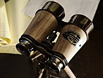 $120 off Wood and Brass Binocular on Stand