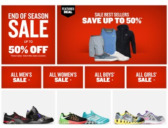 Finish Line End of Season Sale - Up to 50% off Shoes, Sneakers & Gear