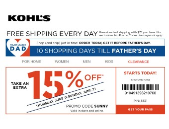 Save an Extra 20% off Your Purchase of $75+ at Kohls.com