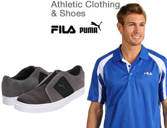 Up to 75% off Puma & Fila Shoes, Clothing & Accessories