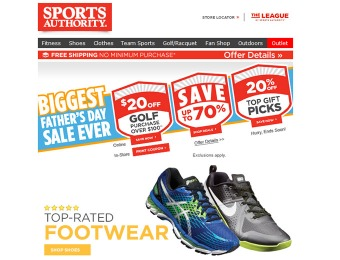 Sports Authority Father's Day Sale - Up to 70% off