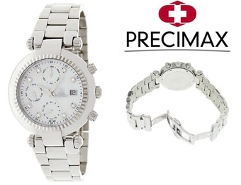 91% off Swiss Precimax SP12126 Women's Stainless Steel Watch