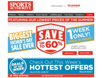 Sports Authority Father's Day Sale - Up to 60% off