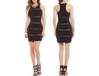 65% off B. Darlin Striped Illusion Sheath Dress