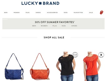 Extra 30% of Summer Favorites at Lucky Brand