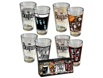 39% off Beatles Pint Glass Set Album Covers