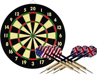 76% off Trademark Games Dart Game Set with 6 Darts and Board