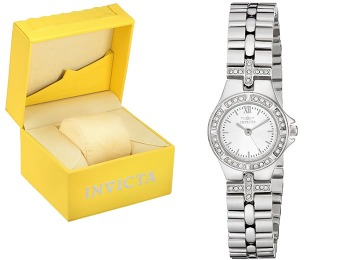96% off Invicta 0132 Wildflower Collection Crystal Accented Watch