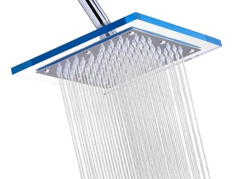 "67% off A-Flow Luxury Rain 8"" Square Stainless Steel Shower Head"