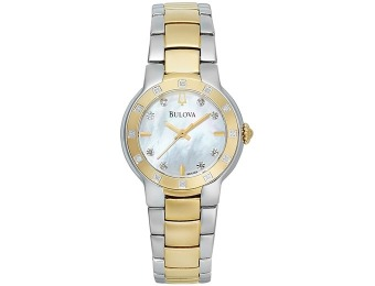 76% off Bulova Diamond Accent Two-Tone Bracelet Women's Watch