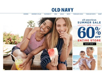 Old Navy Summer Sale - 60% off the Entire Store