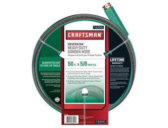 50% off Craftsman Heavy Duty Neverkink 50ft. Hose