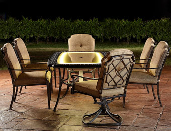 $1200 off Agio Bella Luna 7pc Lighted Patio Furniture Set