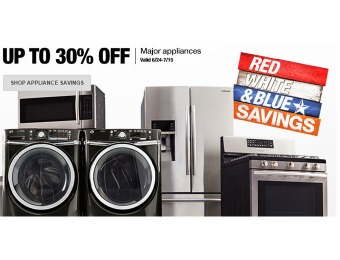 July 4th Sale - Save Up to 30% off Major Appliances at Home Depot