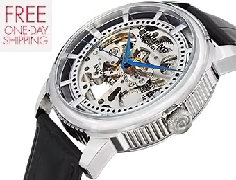 85% off Stuhrling Original Skeleton Automatic Watch