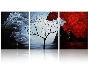 "$94 off Santin Art ""The Cloud Tree"" Paintings on Canvas, 3 Pieces"