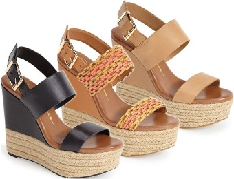 62% off Jessica Simpson 'Allyn' Wedge Platform Leather Sandal
