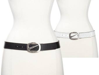 72% off Nike Golf Women's Swoosh Cutout Perforated Leather Belt