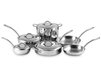 $680 off Culinary Institute 10-Pc Stainless Steel Cookware Set