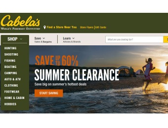 Save Up to 60% off Outdoor Clothing & Summer Gear at Cabela's