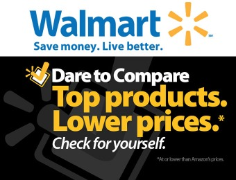 Walmart Dare to Compare Deals - At or lower than Amazon prices!