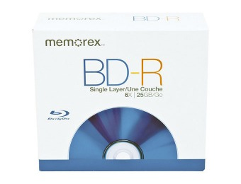73% off Memorex 98684 Blu-Ray Disc BD-R 5-Pack with Jewel Case