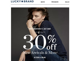 Lucky Brand Sale - Save 30% off New Arrivals & More