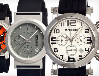 85% off Breed Racer Collection Men's Watches