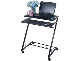 72% off Mobile Rolling Cart Compact Computer Desk