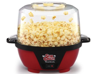 50% off West Bend 82505 Stir Crazy 6-Quart Popcorn Popper