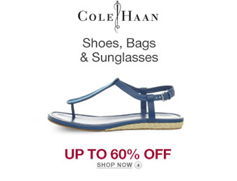 Up to 60% off Cole Haan Shoes, Bags & Sunglasses